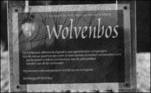 Toegangsbord Wolvenbos