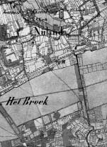 Deze kaart is een fragment van een stafkaart uit 1859.